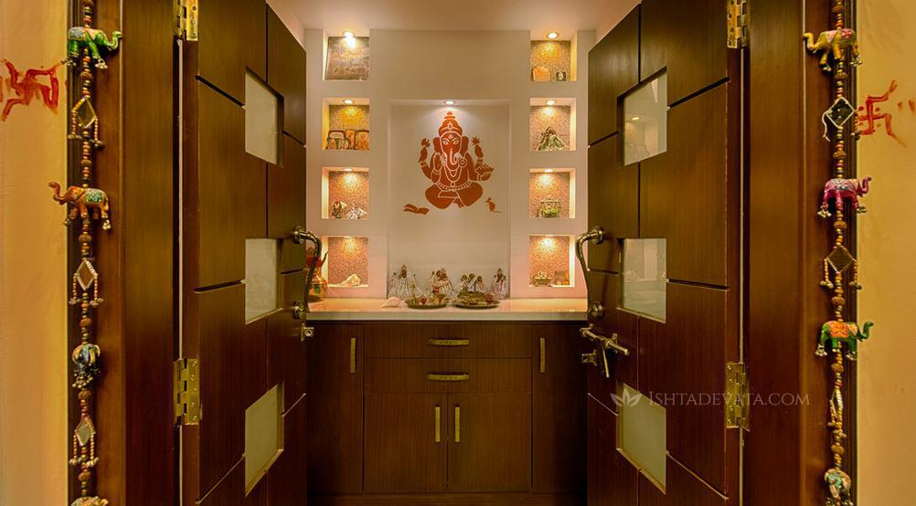 Marvelous Hindu Prayer Room Design Ideas Part - 6: IshtaDevata