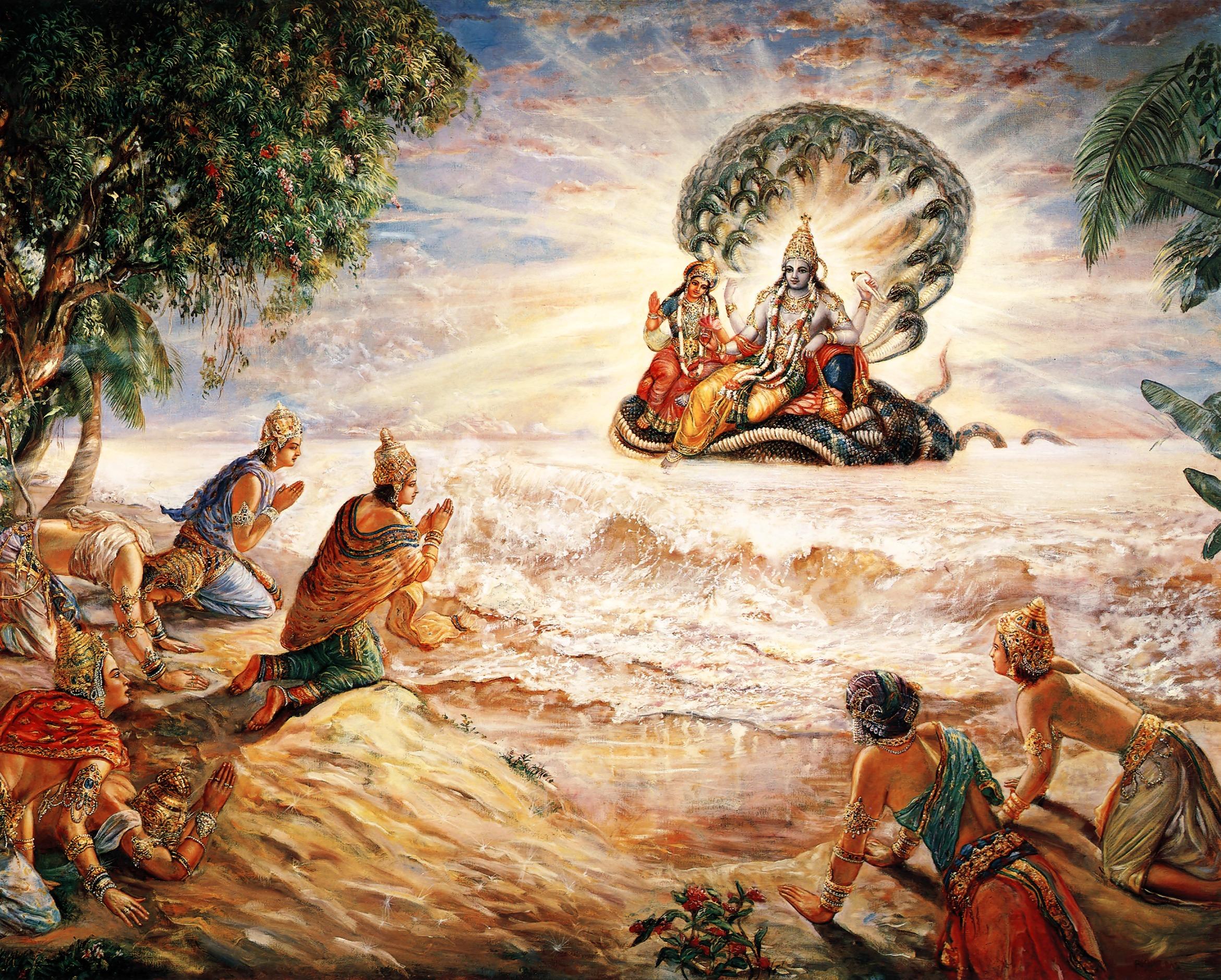 Sri Krishna Stories - Episode 1 - Sri Vishnu Promises to be born on Earth! -Sri Krishna Stories