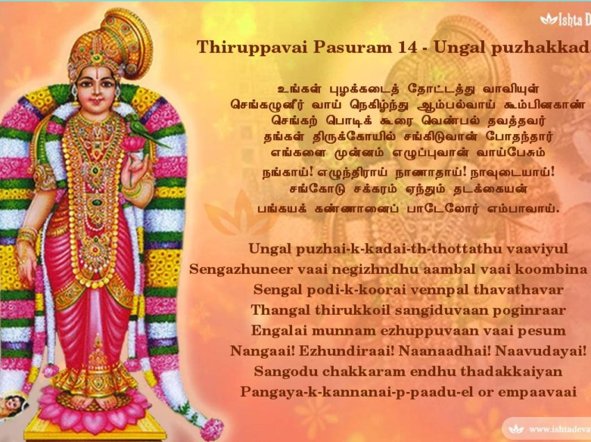 Thiruppavai pasuram 14 – Ungal puzhai-k-kadai-th