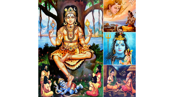 Temples where celestials where initiated by Shiva